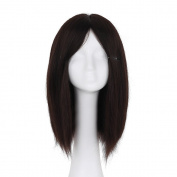 Styler 100% Hand Made Silk Base Wig Human Hair Wig 36cm Natural Colour 10cm x 10cm Silk top Wigs for Women