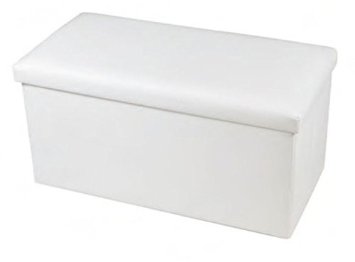 New large ottoman foldaway storage blanket toy box bench for White ottoman storage box