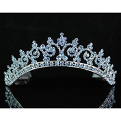 Janfashions Sexy Blue Austrian Rhinestone Crystal Crown Tiara Combs Bridal Wedding T301blue