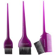 HYOUJIN 3pcs Salon Hair Colouring Dyeing Kit,Large Tint Brush,Colour Mixing Tint Brush Combs,Dye Brush,Bleach Tint,Dye Brush Set,Hair Colouring Kit,Dye Brush Set,Colour Applicator