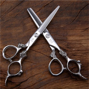 Fenice 15cm Professional Salon Hairdressing Cutting and Thinning Scissors Set Hair Cutting and Thinning Shears Kits For Stylist Japan 440C 28 Teeth Thinning Rate 20-25%