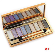 ShineMore 9 Colours Diamond Bright Colourful Eye Shadow Eyeshadow Super Flash Glitter Eye shadow