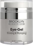 Brooklyn Beauty Lab Eye Gel (50ml) Anti-Ageing Firming and Plumping Cream – Natural Age-Defying Dark Spot Corrector and Skin Moisturiser Helps Eliminate Puffy Eyes