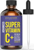 Aria Starr Vitamin C Serum L-Ascorbic Acid For Face, Skin Repair, Acne, Dark Spots & Circles, Anti Ageing, and Anti Wrinkle 30ml