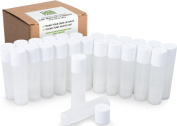 25 Lip Balm Containers - Empty Tubes - Make Your Own Lip Balm - 3/16 Oz (5.5ml) - Natural (Translucent) Colour - MADE IN THE USA