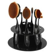 Cosmetic Shelf Tool,TOOPOOT 10pc Oval Makeup Brush Holder Drying Rack Organiser