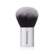 FANTCEN Face Brush Kabuki Bronzer Brush Makeup Brush Oval Brushes for Cream Powder Blusher Contouring Highlighting Silver