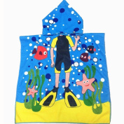 Hatop Hooded Towel for Kids Toddlers Bath Wrap Beach Poncho with Hood Robe Baby