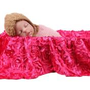 OVERMAL Baby Newborn 3D Rose Flower Photography Photo Prop Backdrop Rug Blanket