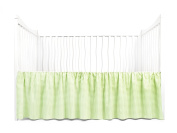 Tadpoles Crib Skirt Classic Gingham, Green