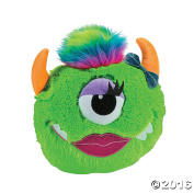 28cm Plush Monster Pillow (Green) - Cute Girl Boy Kids Bedroom Livingroom car