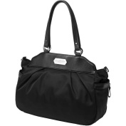 Petunia Pickle Bottom Skyline Satchel - Black Chai Tea Cake