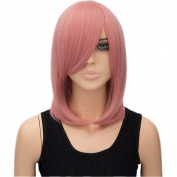 Besgo 41cm Shoulder Length Straight Hair Rose Net Wig For Women Cosplay