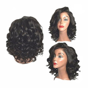 Besgo 60cm Fluffy Healthy Wave Black Rose Net Hair Wig for Women Cosplay Party Costume