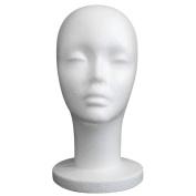Hatop Female Styrofoam Mannequin Manikin Head Model Foam Wig Hair Glasses Display