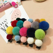 CellElection 10pcs 5.1cm of Winter Wool Hairclips Baby Girls Cute Colorfule Hairpins
