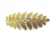 Fern Leaf Hair Clips Leaf Barrette Bridal Barrette leaf leaves Artisan Crafted Hair Clips