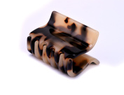 MS.CLEO Polished Leopard Bongo Jaw Hair Claw-Cellulose Acetate Hair Clip for Womens, Girl, Lady