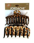 Jordache Leopard Pattern Hair Ponytail Clips