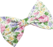 Flower Print Hair Bow Clip Hair Accessory Handmade by Sweet in the City
