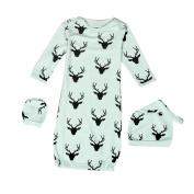 Efaster(TM) Lovely Baby Reindeer Pattern Gown Hat Mittens Anti-kick Sleeping Bag
