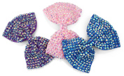 OneDor 3Pcs Boutique Hair Barretes Large Shinning Hair Bow Alligator Clips Accessory