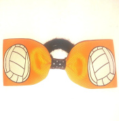 Volleyball Hair Bow - without tails, many colours avail, Made in the USA, black pony band