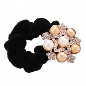 3 Pcs Elegant Hair Elastics Crystal Hair Ornaments Accessories Ponytail Holders, #06