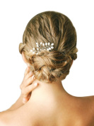 MANDI HOME Beautiful . Bridal Wedding Pearl Hair Pins for Women and Girls Flexible Hairpins For Thick Hair