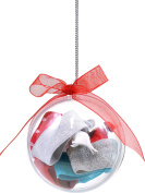 Cyndibands Holiday Ornament with 6 Hair Ties