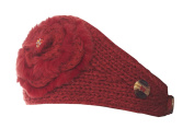 Girls Cosy Candytuft Knit Winter Headband with Faux Fur Detail