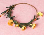Merroyal Boho floral crown Bridal flower crown Wedding rustic crown Flower wedding halo Boho hair wreath Wedding hairpiece Bridesmaid crown floral
