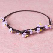 Merroyal Rustic hair wreath Millet crown Woodland headband Berries crown Wedding halo Bridal rustic headpiece Forest