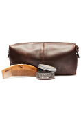 Apothecary87 Leather Wash Bag Hair Kit