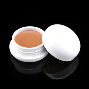 Cosmetics Concealer Jar, KRABICE Monochrome Cosmetics Dark Circle Concealer Cream Yellow Circles Make Up Concealers Cream (10ml/12g) #3