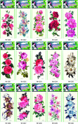 Grashine 15pcs temporary tattoos in one package,it including roses,various colourful flowers,peony,etc.