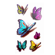 8 Sheets 3D Butterfly Temporary Tattoo Waterproof Body Arm Art Sticker Fake Tattoo Paster Tips