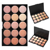 Cosmetics Cream Concealer Palette, KRABICE 15 Colour Makeup Dark Circle Concealer Cream Make Up Foundation Makeup Palette Set #2