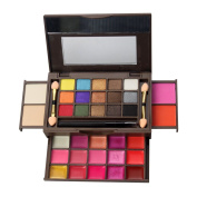 34 Colour Eyeshadow Palette, Bold and Bright Collection, Vivid, KRABICE Eyeshadow Eye Shadow Palette Makeup Kit Set(15 Colour Eyeshadow and 15 Colour Lip Gloss and 2 Colour Powder and 2 Colour Blush) #1