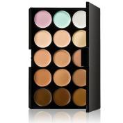 Cosmetics Cream Concealer Palette, KRABICE 15 Colour Makeup Dark Circle Concealer Cream Make Up Foundation Makeup Palette Set