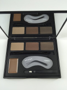 NEW 4 Colour Eyebrow Shaping Powder/Cream Palette With Double End Brush Brow Class Tweezers Makeup Kit