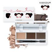 [KARADIUM] PUCCA LOVE EDITION Eyebrow Cake 1.6g x 3 / Natural Eyebrow Makeup