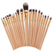 Creazy 20PCS Make Up Foundation Eyebrow Eyeliner Blush Cosmetic Concealer Brushes