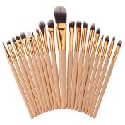 Creazy 20PCS Make Up Foundation Eyebrow Eyeliner Blush Cosmetic Concealer Brushes