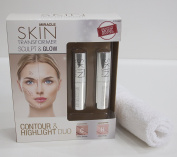 Miracle Skin Transformer Sculpt & Glow, Tinted Sculpting Balm Cheek Contouring Sticks - Contour & Highlight Duo, Coral Bronze and Fresh Rose - FREE washcloth included!