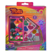 Dreamworks Trolls Lip Gloss Cosmetic Set for Girls Pretend Play Make Up Dress-up