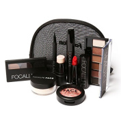 Beginner Cosmetics Makeup Tool Kit 8 PCS Cosmetics Including Eyeshadow Lipstick With Makeup Bag by FOCALLURE