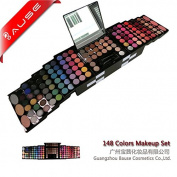 148 Colour PRO Makeup Set Eyeshadow Palette Blush Lip Gloss Brow Shader Concealer Eyeshadow Gel + Brush