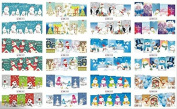12pcs Merry Christimas hot selling and fashionable water transfer nail sticker,it including deer,Santa Claus,snowflower,snowman,Christmas tree,etc.