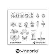Winstonia Nail Stamping Plates Nail Art Image Stencil Manicure Template Christmas Winter Holiday